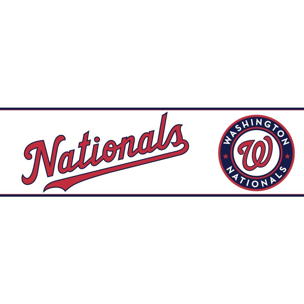 York Wallcoverings Zb3361bdsmp Boys Will Be Boys Ii Washington Nationals 8 Inch X 10 Inch Memo Sample Wallpaper Borders Chalky Ivory Scarlet Red Amazon In Home Improvement