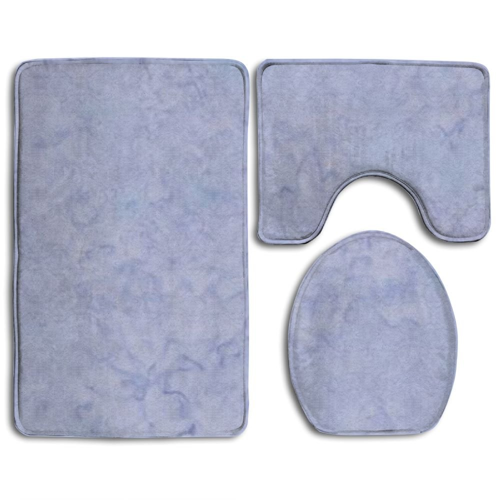 WANGJIAO12 NEW Light Periwinkle Popular Bath 3-Piece Rug Set For Unisex