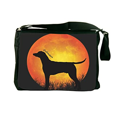 Rikki Knight Dalmatian Dog Silhouette by Moon Design Messenger School Bag (mbcp-cond41378)