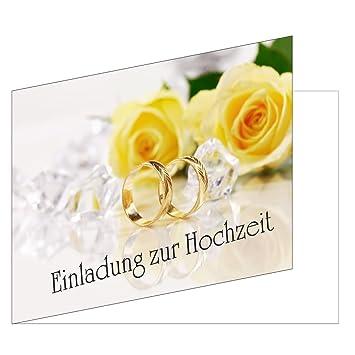 50 pieza Tarjetas de invitación para boda (EKT de 104) Formato DIN A6 –