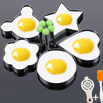 Etach acero inoxidable anillos de huevo frito molde antiadherente cocinar crumpet molde para huevos de Pascua con forma de huevo frito Pancake omelets Mold ...
