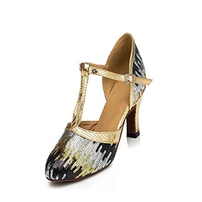 4bc5137dc TMKOO& Latin dancing shoes adult dancing shoes with modern dance dancing  light sequins soft bottom (