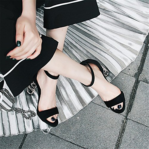 talon et bout fêtes pour confortable fêtes les Sandales pour chaussures les et femme ouvert d'été de aiguille femmes Rome Hx8IAq0
