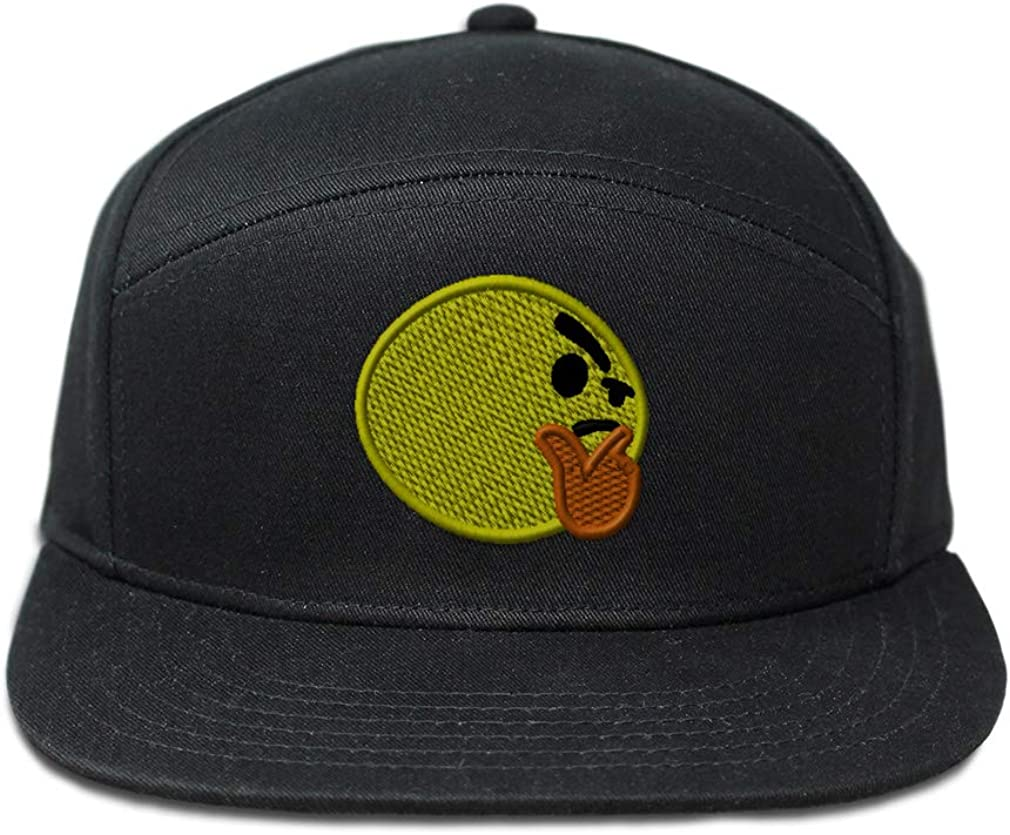 Custom Snapback Hats for Men /& Women Emoji Thinking Face Embroidery Cotton