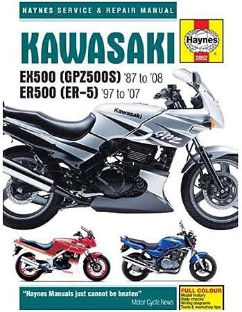 Haynes Shop Manual Kawasaki EX500 ER500 GPZ500S ER-5 Service Repair 1987-2008
