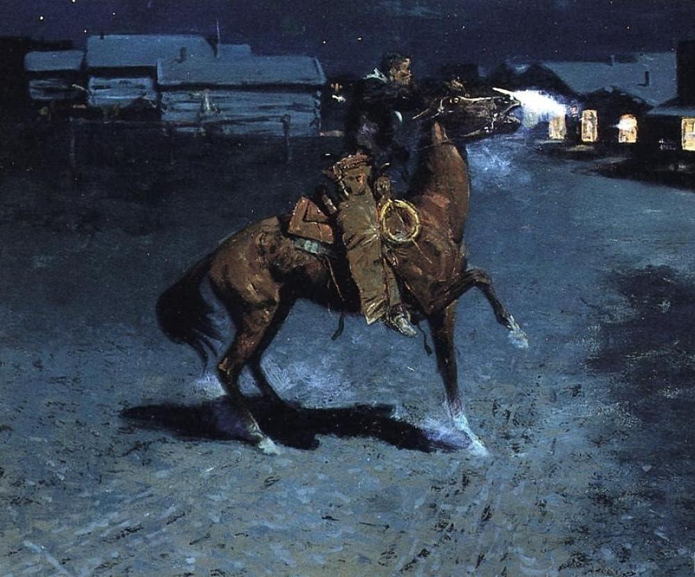 Pintura al óleo de bricolaje por kits de números Frederic Remington Hombre montado en un caballo Cuadro de pared digital Lienzo Regalo único Decoración Obra de arte