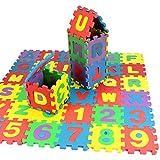 Wenini 36Pcs Baby Child Number Alphabet Puzzle Foam Maths Educational Toy Gift (Multicolor)