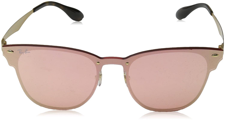 c80bd675f4 Ray-Ban Kids 'acero unisex no polarizado anteojos de sol cuadrados de iridio,  cepillado, oro, 47.02Â mm: Amazon.com.mx: Ropa, Zapatos y Accesorios