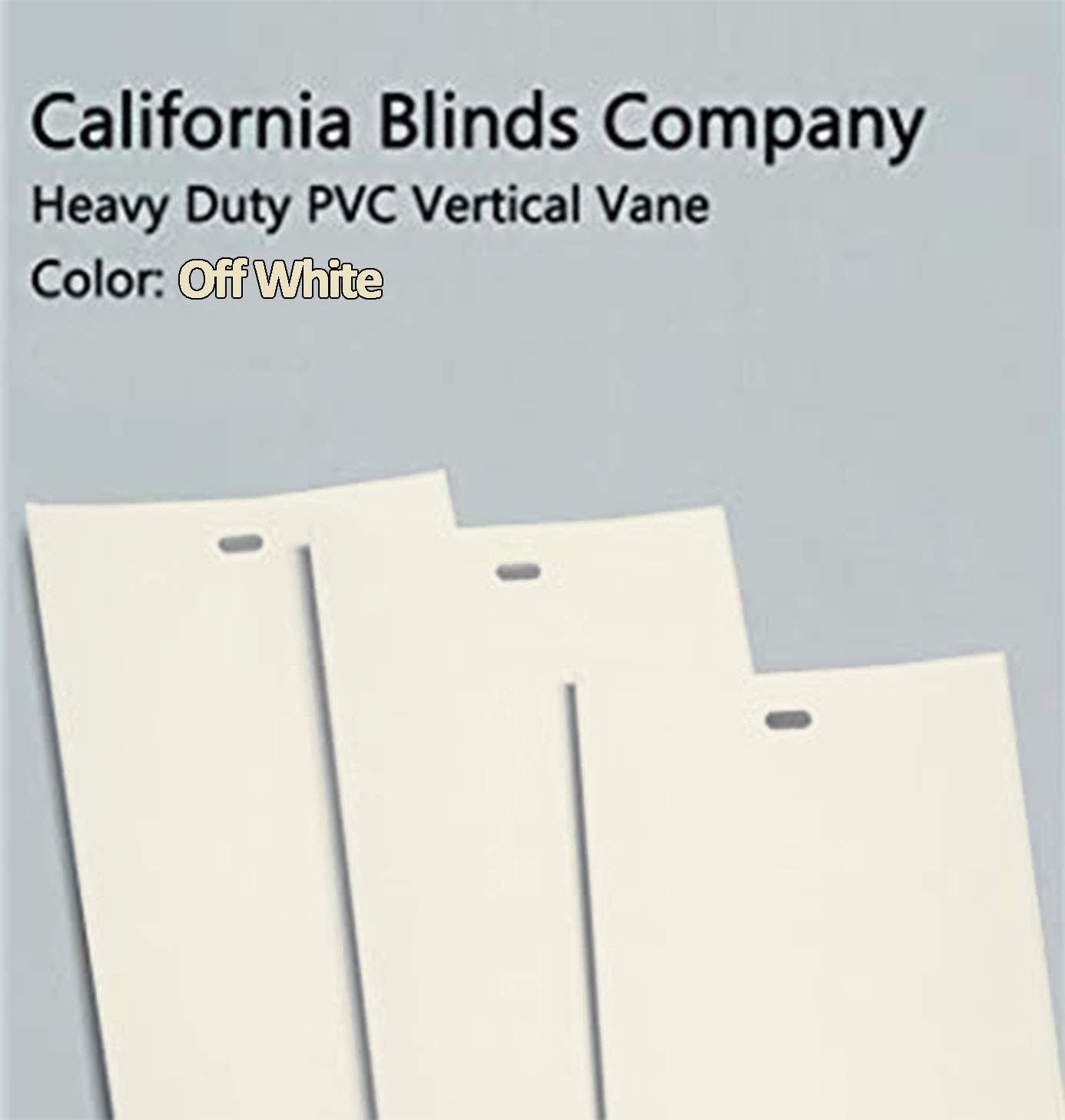 California Blinds Company PVC Vertical Blind Replacement Slat Smooth Off White You Pick Size and Quantity