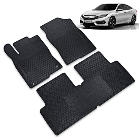 All Weather Floor Mats >> Leesville Car Rubber Floor Mats For Honda Civic 2015 2019 10th Generation Sedan Hatchback All Weather Black Auto Floor Mats Car Accessories