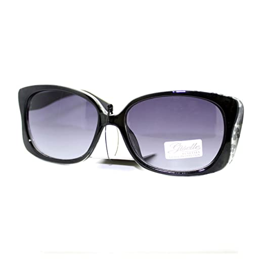 c8ac6fec27773 Giselle Womens Narrow Floral Flower Print Bow Rectangular Thick Plastic  Sunglasses Grey