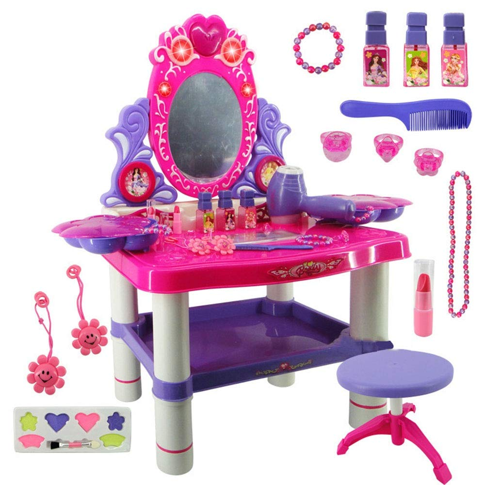 Dressing Table Toy Toddler Fantasy Beauty Dressing Table Children's Toys Children's Dressing Table Toys (Color : Pink, Size : 623364.5CM)