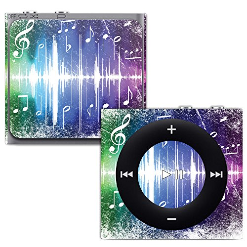 MightySkins Skin for Apple iPod Shuffle 4G - Music Man | Protective, Durable, and Unique Vinyl Decal wrap Cover | Easy to Apply, Remove, and Change Styles | Made in The USA (Protective Shuffle Case Silicone)