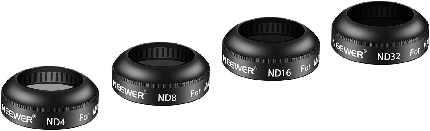 Neewer 4 filtros HD ND4, ND8, ND16, ND32 / DJI Mavic y pro