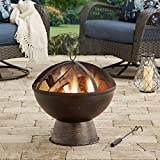 21'' Outdoor 100 percent iron Bronze Finish Wood-Burning Fire Bowl