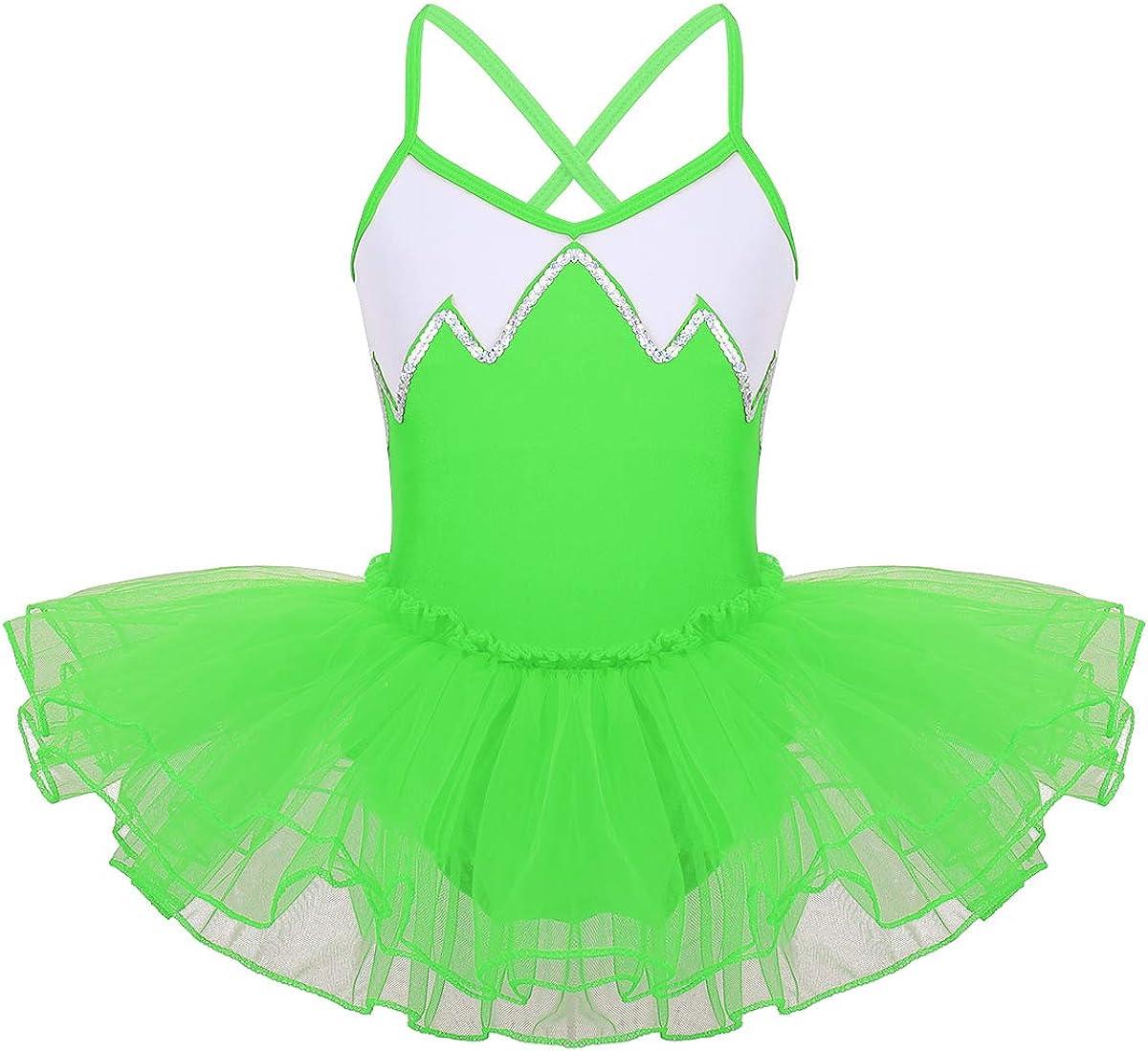 iiniim Maillot Vestido Ballet Danza Tutú Lentejuelas Brillantes ...