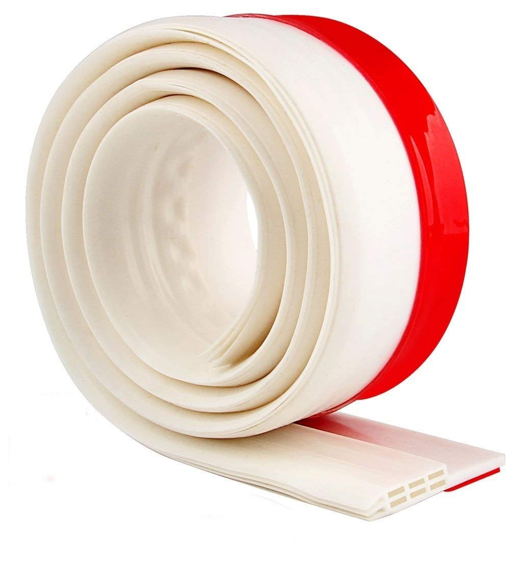 Best DIY Bottom Under Door Draft Stopper Guard - Keep Cold/ Heat Out - Energy Saver - Strong Adhesive Weather Stripping Threshold Sweep Seal - Sound Blocker - 2'' Width x 39'' Length(White)