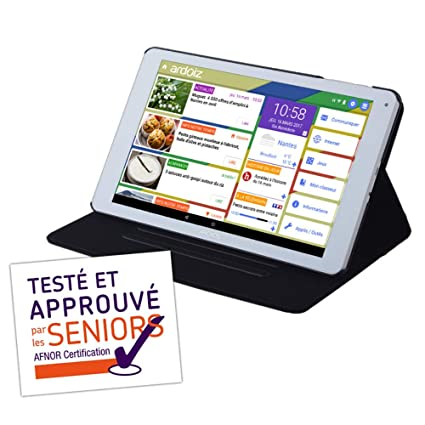 Tablet simplifiée para Senior ardoiz con 1 año de ...