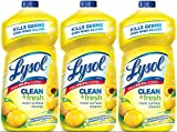 Lysol Clean & Fresh Multi-Surface Cleaner, Lemon & Sunflower, 120oz (3X40oz)