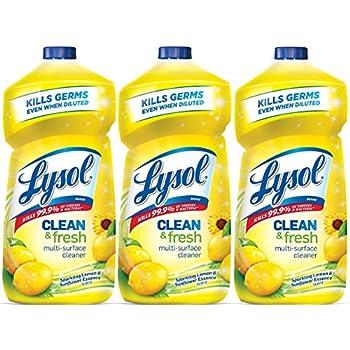 Lysol Clean & Fresh Multi-Surface Cleaner, Lemon & Sunflower, 120oz (3X40oz)