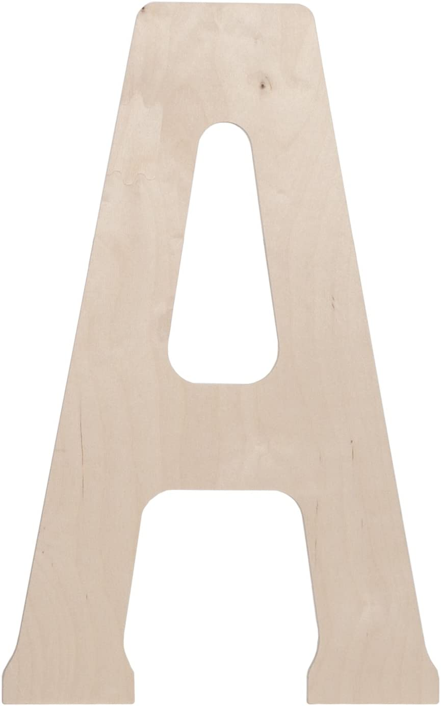 Walnut Hollow Wood Letter 18 by 0.5-Inch Monogrammed Letter A