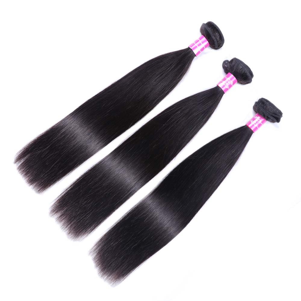Sterly Brazilian Straight Hair 3 Bundles With Frontal Closure 13x4 Ear To Ear Lace Frontal With Bundles Unprocessed Virgin Human Hair Extensions Natural Color (18 20 22 +16) by Sterly (Image #8)