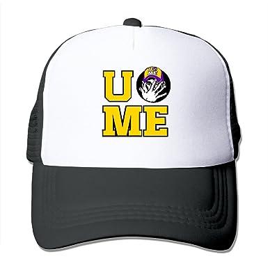 huge discount 2e827 5024b ireland john cena u cant see me logo wwe trucker mesh snapback hat black  83afb 54f43
