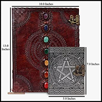 amazon com leather journal book seven chakra medieval stone