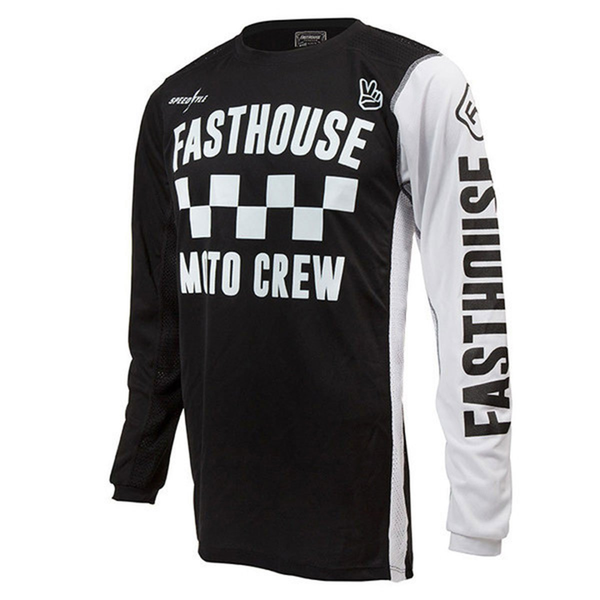 Fasthouse Checkers Air Cooled Men's Motocross Motorcycle Jersey Black Large by Fasthouse (Image #1)