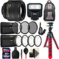 Nikon AF-S FX NIKKOR 50mm f/1.8G Lens with Auto Focus + Nikon SB-300 AF Speedlight Flash 4810 for Nikon DSLR Cameras with Accessory Bundle
