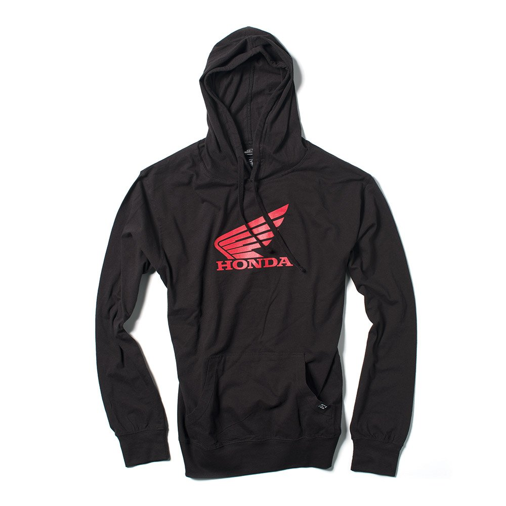 Factory Effex Unisex-Adult Honda Wing Lightweight Hooded Sweatshirt (Black, Medium), 1 Pack