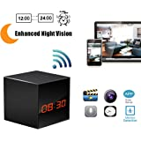 Spy Network Camera HD Wireless Hidden Camera Smart Clock WiFi Fluent Video Recorder with Enhanced Night Vision