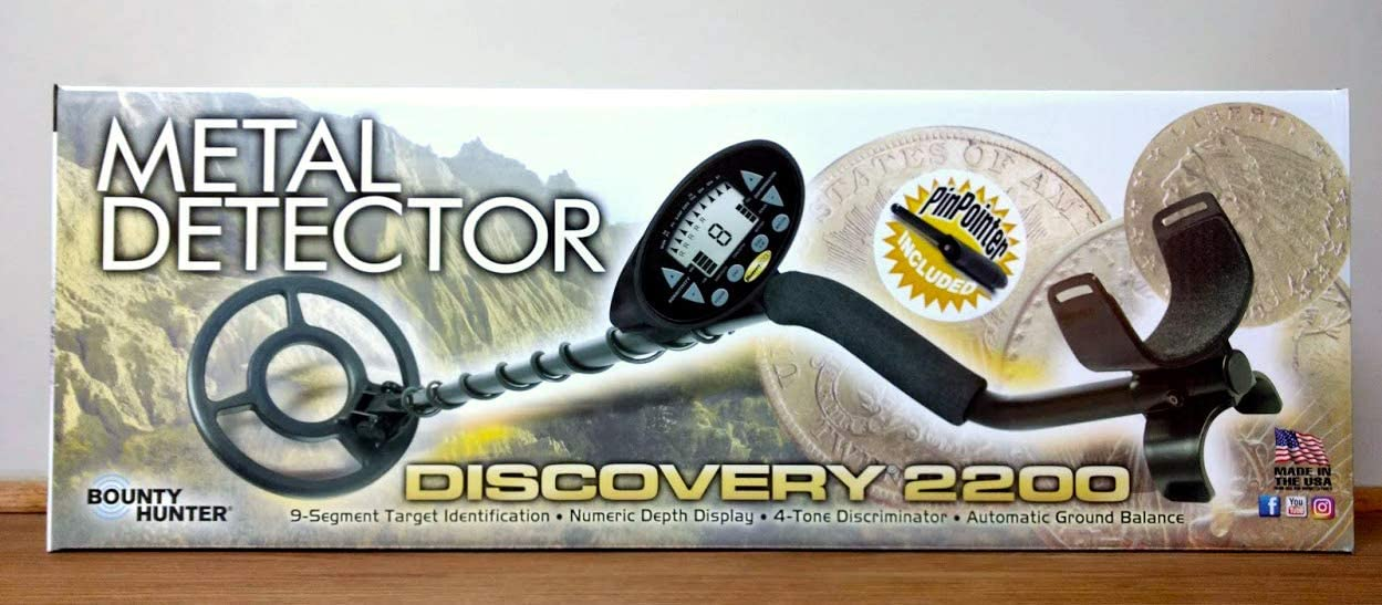 BOUNTY Hunter Discovery 2200 metal detector con Pinpointer