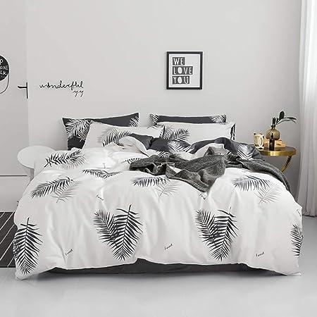 100% algodón Ropa de cama Hojas Funda nórdica Funda blanca de ...