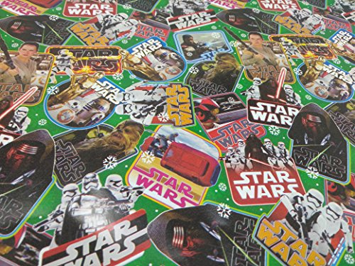 Christmas Wrapping Holiday Paper Gift Greetings 1 Roll Design Festive Wrap Star Wars -