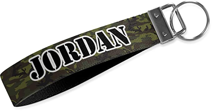 Green Camo Wristlet Webbing Keychain Fob (Personalized) at Amazon ... bd0357ad6