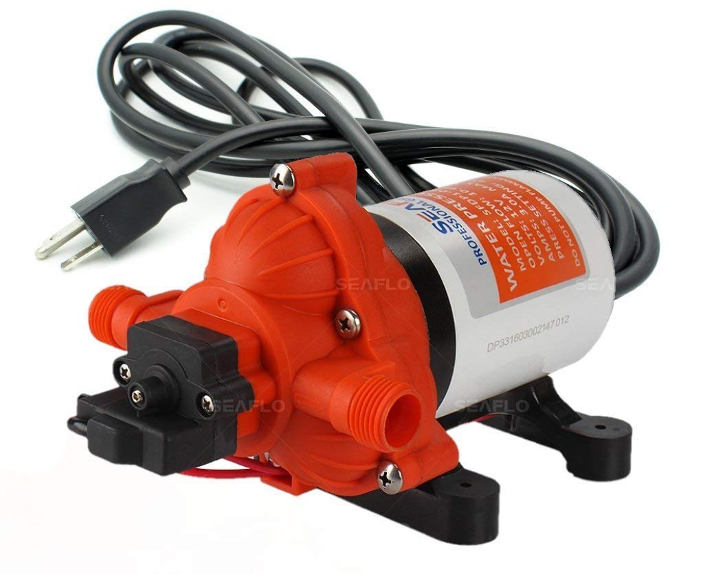 SEAFLO 110V 3.3 GPM 45 PSI Water Diaphragm Pressure Pump - 4 Year Warranty!!!