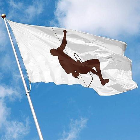 wallxxj Bandera del Jardin Yard Banner Escalada En Roca ...