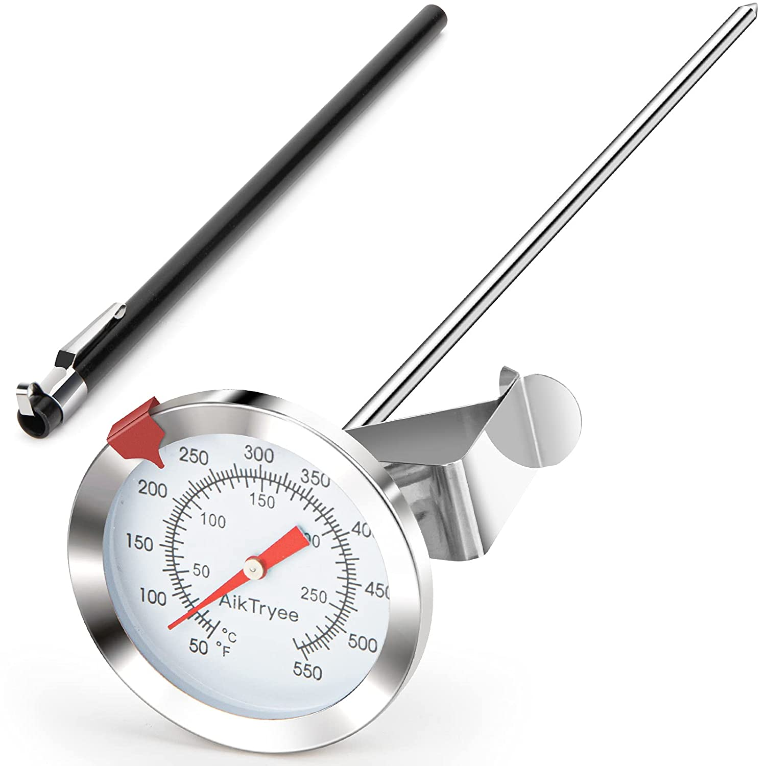 Food/Meat Instant Read Thermometer, Deep Fry Thermometer, Oven Thermometer with Dial Thermometer(10-290?/50-550?)for Turkey BBQ Grill Oil by AikTryee
