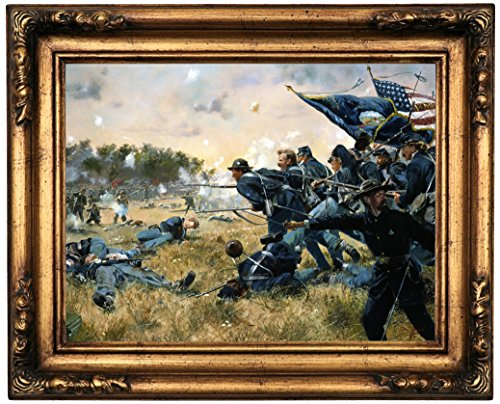 Historic Art Gallery Attack of the 1st Minnesota At Gettysburg 1984 by Don Troiani Framed Canvas Print, 12