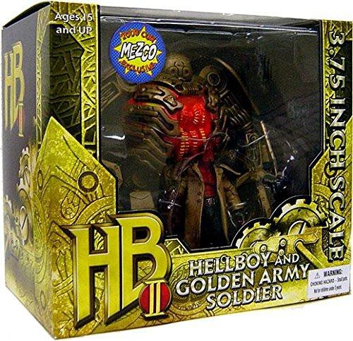 - Hellboy Mezco Toyz 2009 SDCC San Diego Comic-Con Exclusive 3 3/4 Action Figure Set and Golden Army Soldier