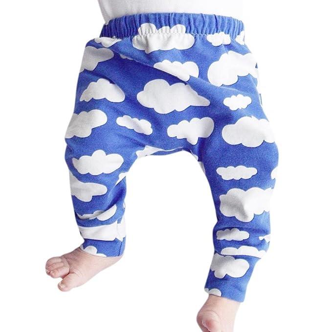 Vovotrade Niñito Infantil Recién Nacido Bebé Niño Niña Pantalones, Encantador Nubes Cielo Algodón Calentar Patrones Pantalones Polainas Otoño ...