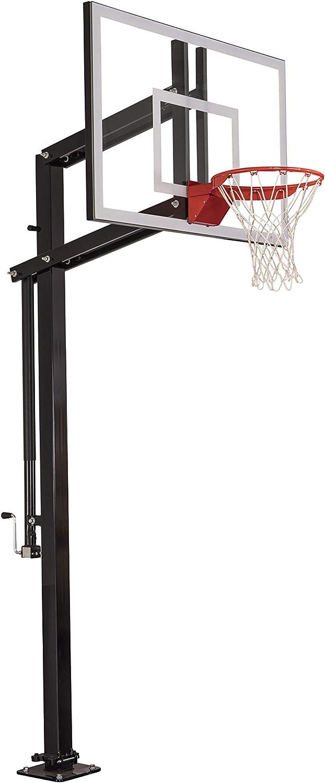 Goalsetterシステムx454 in-groundバスケットボールフープと54インチBackboard