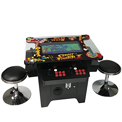 "Cocktail Arcade Machine 1162 Games in 1 with 80's and 90's Classics Includes 2 Chrome Stools 5 YEAR WARRANTY NEW LARGE 26"" LED Monitor: Toys & Games"