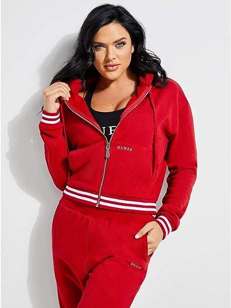 Mujer Con C512 Cremallera Rosso Guess Xl Sudadera Jeans O84q07fl01h qOR0fXt