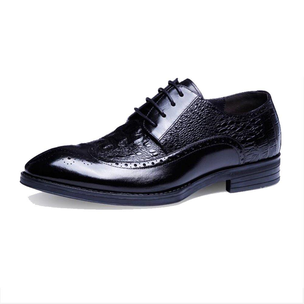 GAOLIXIA Mens New Casual Schwarz Braun Burgund Formelle Schuhe Business Herrenschuhe - Herren Casual Block mit Lederschuhe UK Größe 6 7 8 9 10