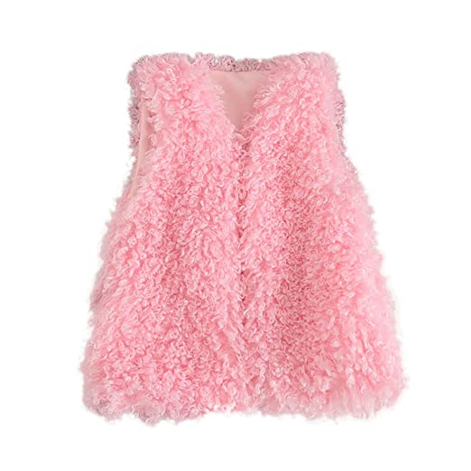 43c51d5a2 Amazon.com  Mandy Baby Girls Boys Kids Long Sleeve Coat Fur Hooded ...