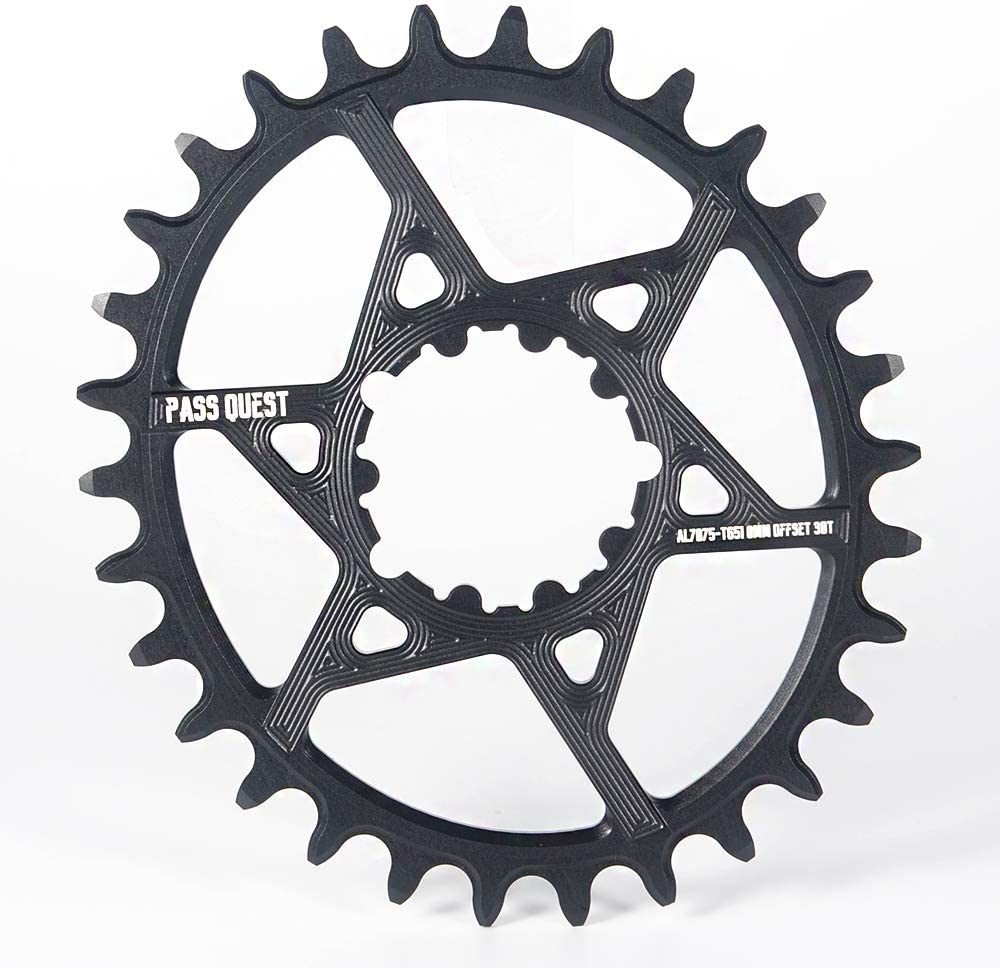 PASS QUEST Narrow Wide Chainring Speed Coupling BB30 Direct mounting Single disc disc 0/3/6 mm Offset xx1 x9 xo GXP Dub
