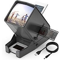 DIGITNOW! Visor de diapositivas y película de 35 mm, aumento de 3x LED LED iluminado Visualización, operación con…