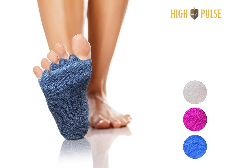 High Pulse Calcetines Corrector / Calcetines para Juanetes y otras deformaciones de los dedos del pie (crema): Amazon.es: Salud y cuidado personal